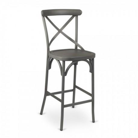 Astonishing Vintage Cross Back Metal Barstool Rff Spiritservingveterans Wood Chair Design Ideas Spiritservingveteransorg